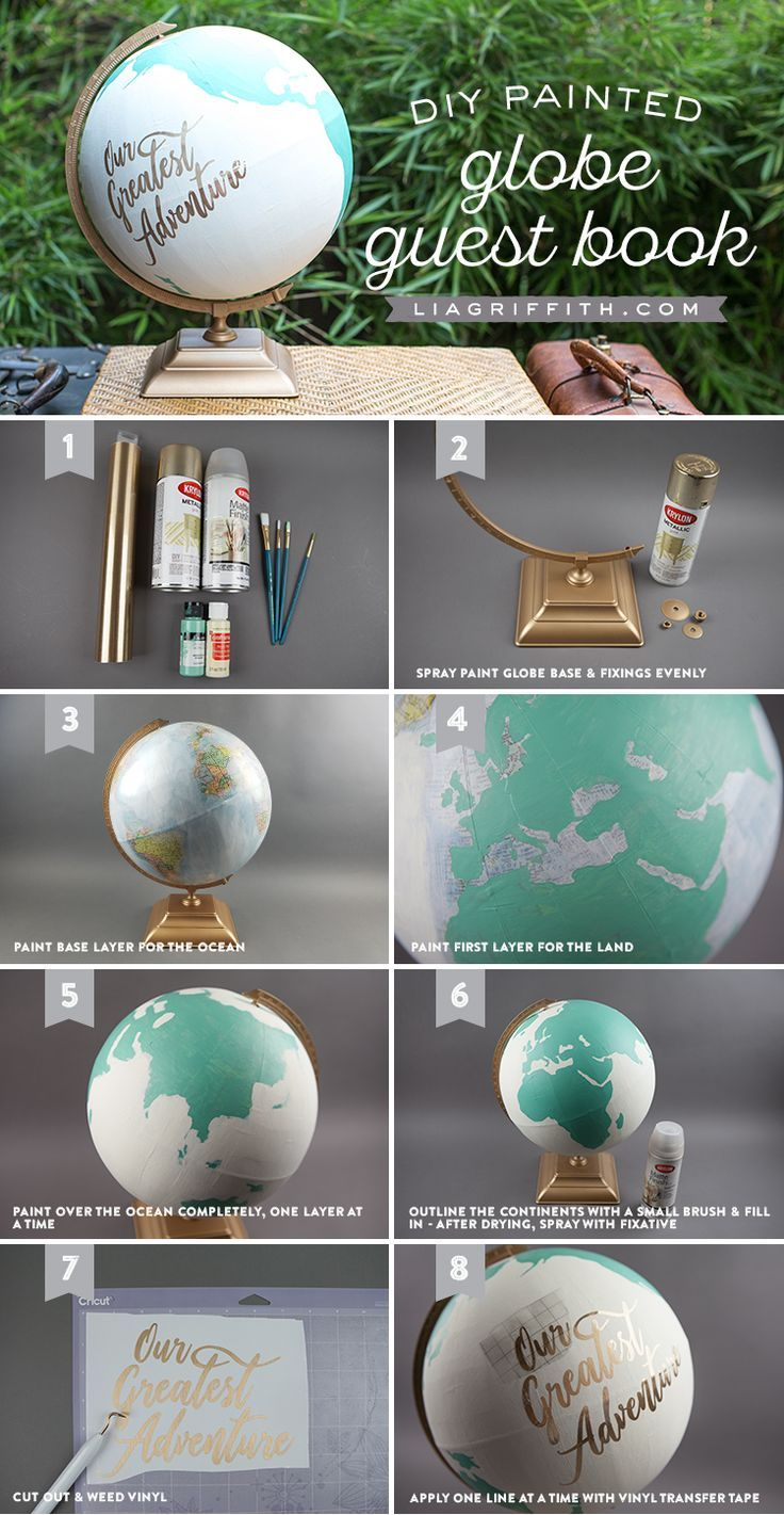 The Perfect DIY Globe Guest Book for Your Travel Wedding