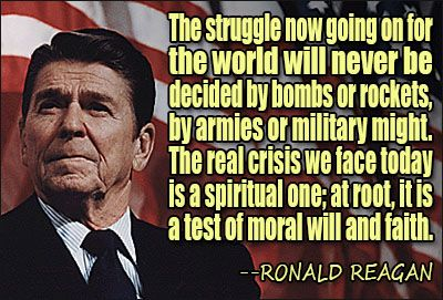 What we need is a modern day Reagan