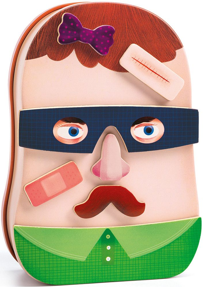 Wooden+Funny+Faces+Magnetics+-+InZeBox+Potraito+by+Djeco+-+Suited+for+toddlers+aged+3+years+and+upwards,+this+Portraits+magnetic+toy+from+Djeco+is+great+fun+and+beautifully+designed.+Play+and+make+different+faces+using+the+38+wooden+magnetic+nose,+eyes+and+glasses+pieces+and+stick+them+to+the+magnetic+tin.+The+magnetic+tin+is+shaped+as+a+face+with+a+hairline+printed+on+both+sides.+Place+the+different+shaped+magnets+on+the+tin+and+play+for+hours+-+after+the+fun+is+over,+store+them+...