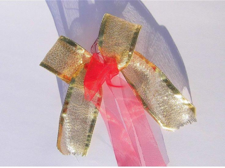 Dekoschleifen goldfarben Schleifen rot Floristik Dekoration Girlanden Kranz Dekoration von amolendiek auf Etsy
