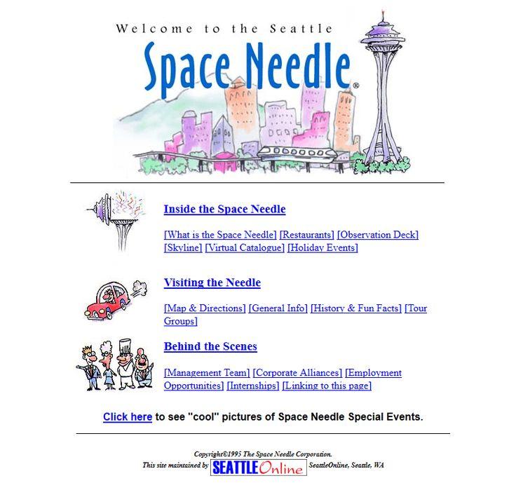 Space Needle website 1996