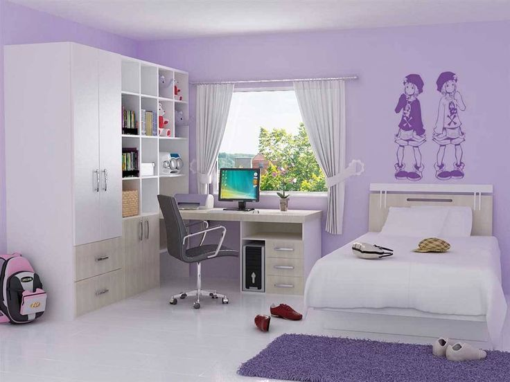 Girls Room: Light Purple Bedroom Ideas Nice