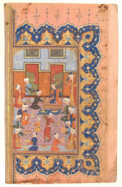 """A Scene of Conviviality at Court"", Folio from a Divan (Collected Works) of Mir 'Ali Shir Nava'i"