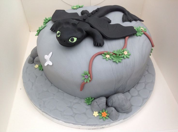 How to train your dragon cake, Toothless