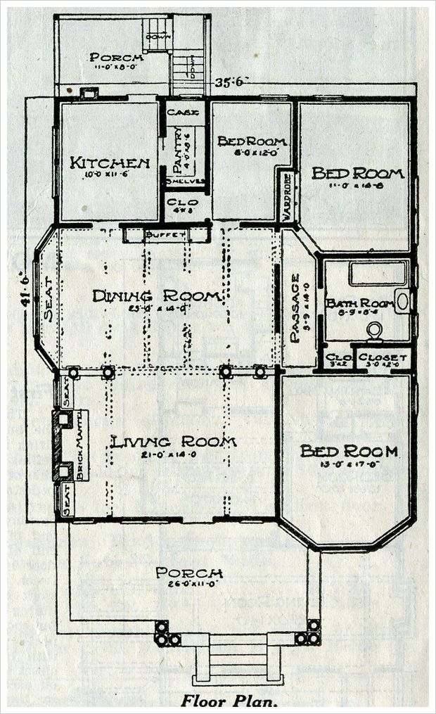 1916 sears avondale plan that dining room is ready for Avondale house plan