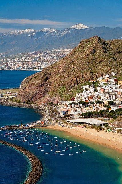 Playa de #LasTeresitas, Tenerife - #IslasCanarias