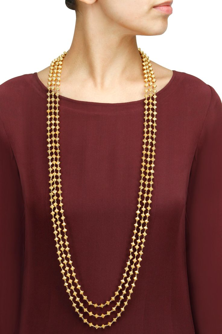 Gold plated chandrahaar necklace available only at Pernia's Pop-Up Shop.