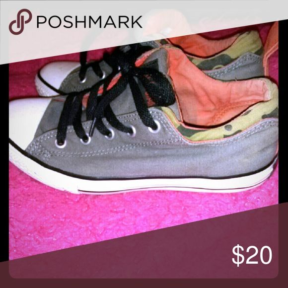 Ladies sneakers Green cammo style ladies converse shoes Converse Shoes Sneakers