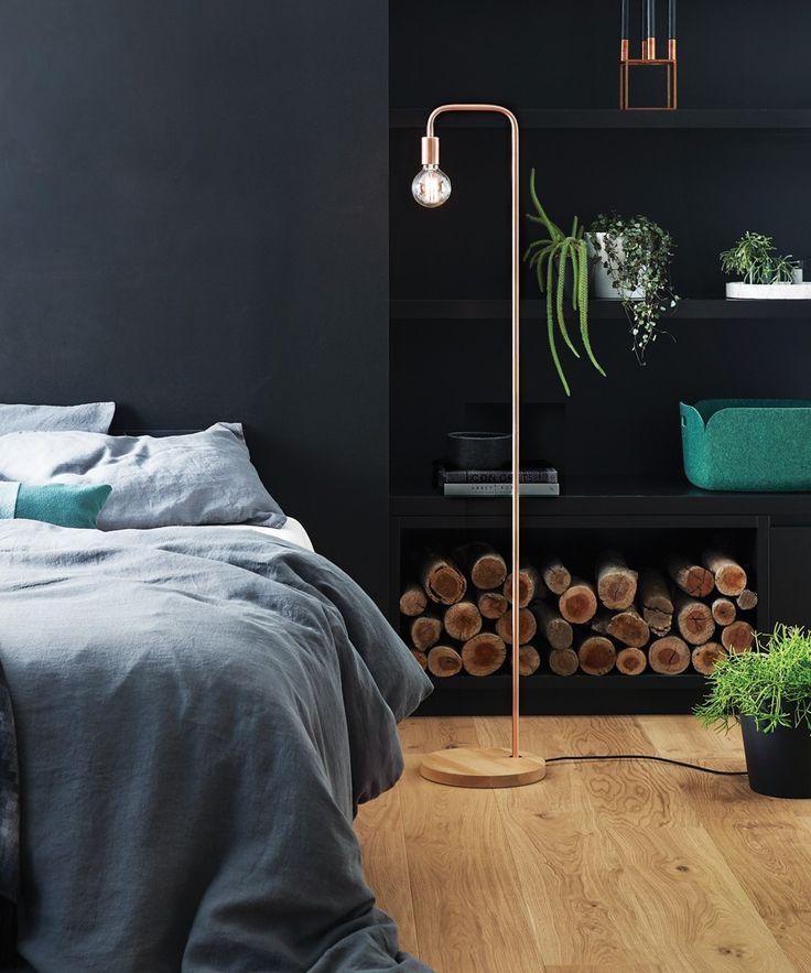 Lanie 1 Light Floor Lamp in Ash/Copper   Floor Lamps   Lamps   Lighting