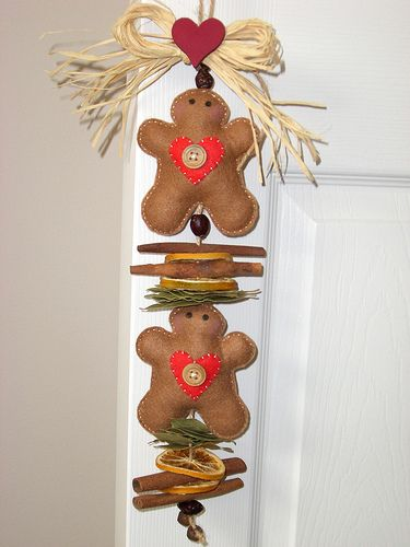 gingerbread garland~tilda