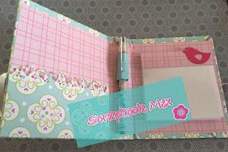 mini agenda de notas,papercraft, wplus9 dies, scrapbookmex, magnolia hearts border die
