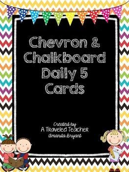 Chalkboard & Chevron Daily 5 Signs and Cards                                                                                                                                                     More