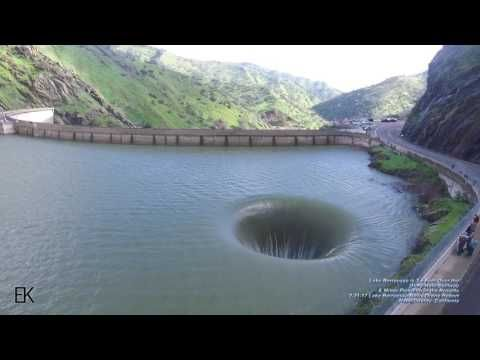 "The Morning Glory Spillway, called the ""Glory Hole"" by locals, spilled over for the first time in 10 years this week. The overflow is a result of a month"