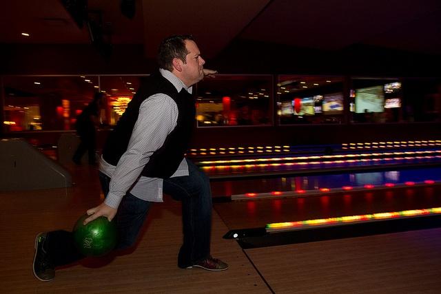 Looks like a strike!: Photo