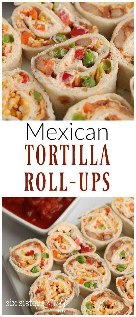 Mexican Tortilla Wrap Roll-Ups Recipe | Six Sisters' Stuff