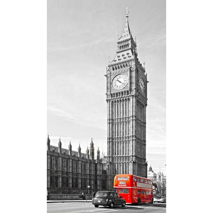 London készfüggöny #függöny #london #óra #lakberendezés