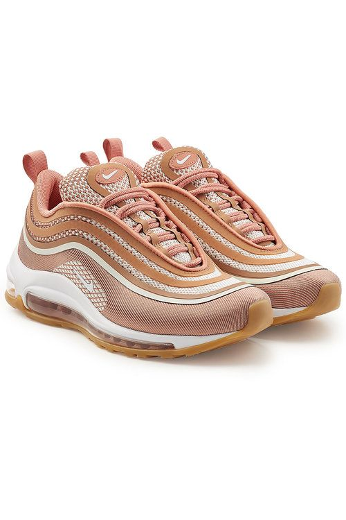 The futuristic wave design of these Nike 'Air Max Ultra 97' sneakers is softened with an orange-pink palette. The mesh texture ups the luxe factor while the cushioned soles keep them comfortable to wear #promotion