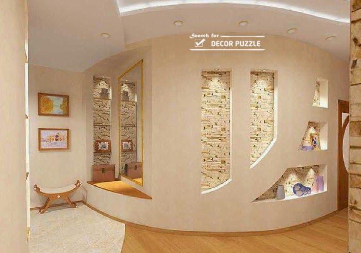 Living room wall design modern pop designs for walls 2015 for Drywall designs living room