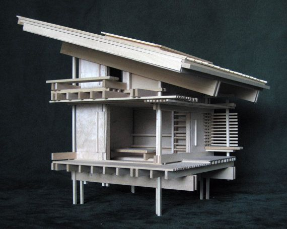 "Konokopia - Architectural Model as Sculpture and as Toy: ""Drawing House"", A Small Structure for Solitary Meditation Inspired by the Japanese Tea House"