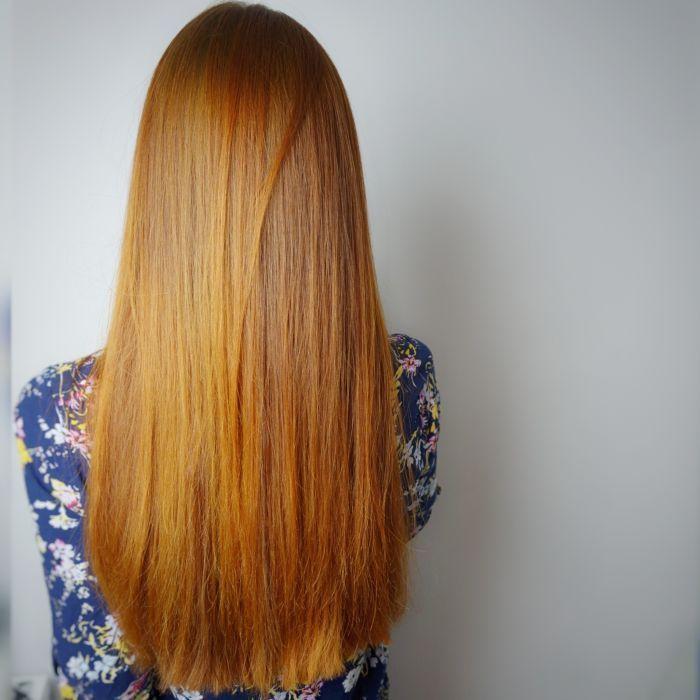 Czy Olaplex można stosować na włosy farbowane henną? Zobacz efekty preparatu Olaplex na moich włosach - farbowanych henną, ale kiedyś też rozjaśnianych.