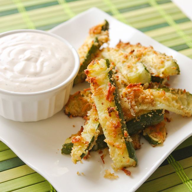 Zucchini Fries and Seasoned Sour Cream — Pip and Ebby