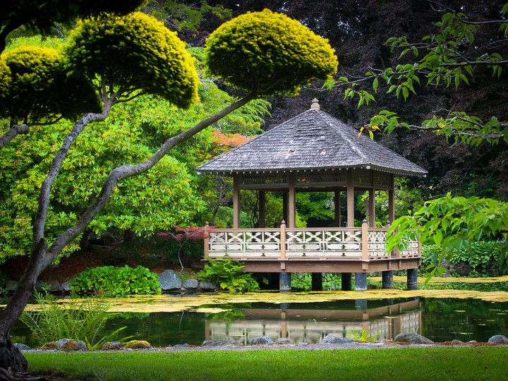 Good Japanese Gazebo Inge Johnsson with the Planters