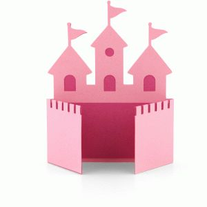 a2 princess castle shaped card----------------------I think I'm in love with this shape from the Silhouette Online Store!
