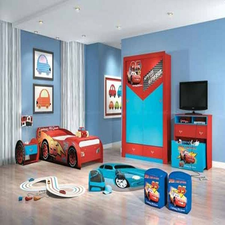 Red and Blue Childrens Bedroom - Space Saving Bedroom Ideas Check more at http://maliceauxmerveilles.com/red-and-blue-childrens-bedroom/