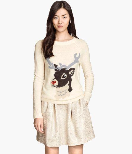 H&M reindeer sweater!