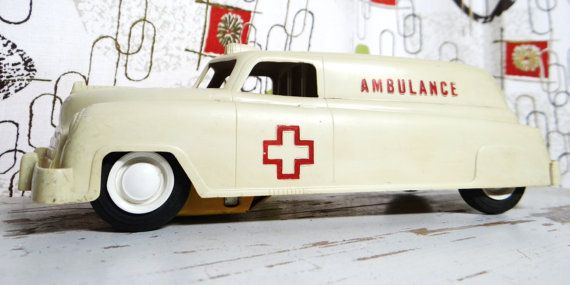 Vintage Wyandotte Ambulance toy ambulance by thewildburro on Etsy, $48.00