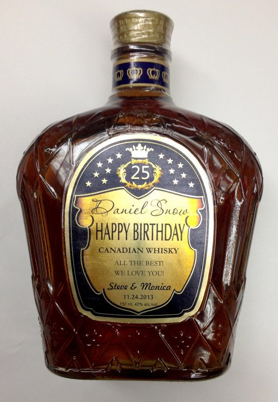 Personalized Crown Royal Bottles by liquorlabels.net https://www.birthdays.durban