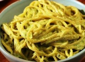 Mexican Green Spaghetti.  I am Mexican and I have never had this, but it does sound delish.