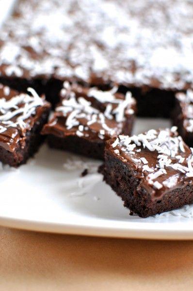 Paleo chocolate coconut slice via Claire K Creations