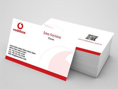 Vodafone firmaları için kartvizit örneği