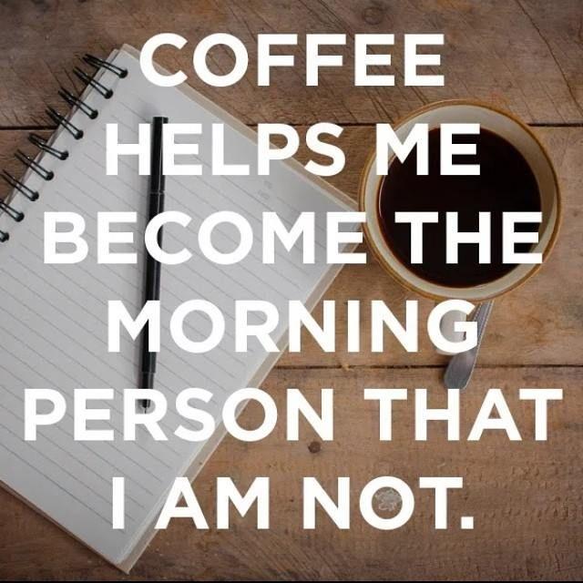 Hit LIKE if you agree. #coffee #coffeelover #mornings  Aimez si vous étes d'accord. « Le café m'aide à devenir la personne matinale que je ne suis pas. »