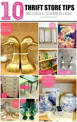 10 Thrift Store Shopping Tips: How To Decorate On A Budget! Great ideas for creating a stylish home on a small budget. Love tip #3!