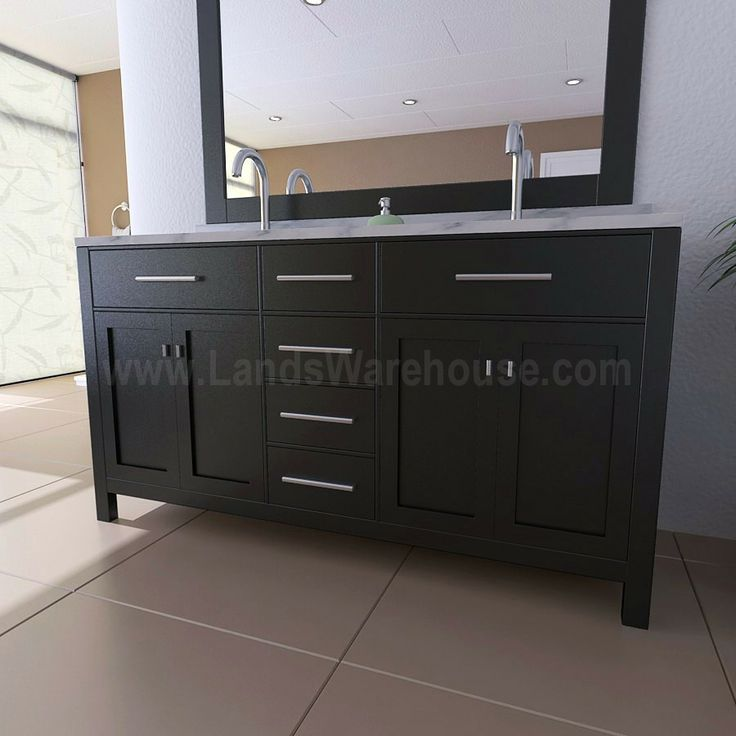 Pics On double sink vanity London Modern Double Sink Bathroom Vanity Inch Width by Design
