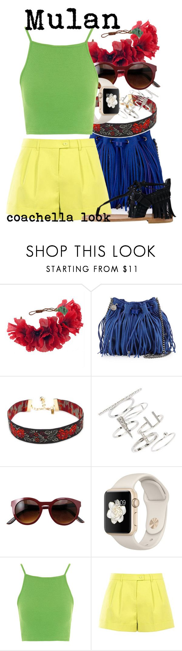 """Mulan - coachella look"" by anna-svt ❤ liked on Polyvore featuring Rock 'N Rose, STELLA McCARTNEY, Topshop, Boutique Moschino and Sigerson Morrison"