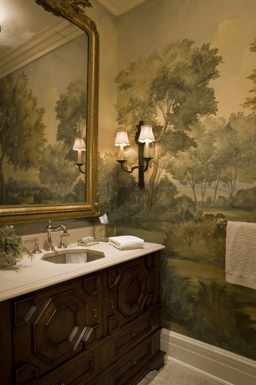 Love Mural Stately Weston Residence Ma Slc Interiors