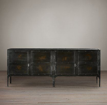 RHs Industrial Tool Chest SideboardA Circa 1900 Toolbox From A French Automobile Factory Inspired Our Expanded Version Perfectly Suited To Life As