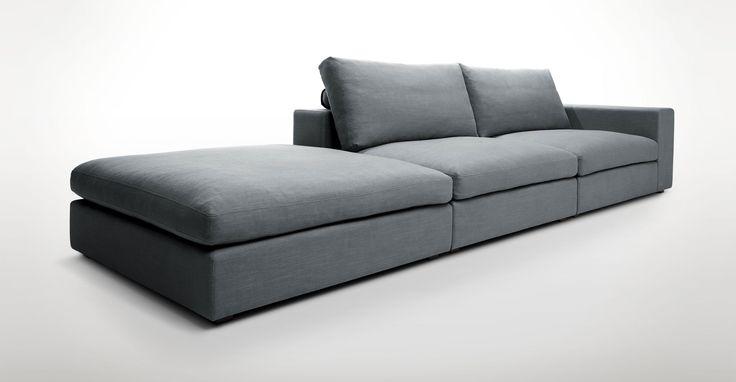 Cube Thunder Gray Modular Sofa, Right Arm - Sofas - Article   Modern, Mid-Century and Scandinavian Furniture