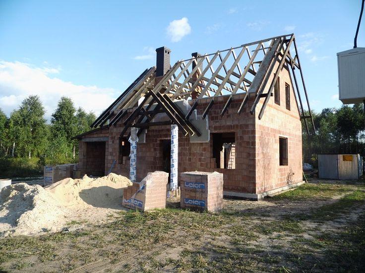 Projekt domu Bajkowy więźba dachowa  #dom #projekt #budowa