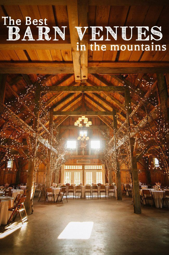 best barn wedding venues in the mountains via mountainsidebride
