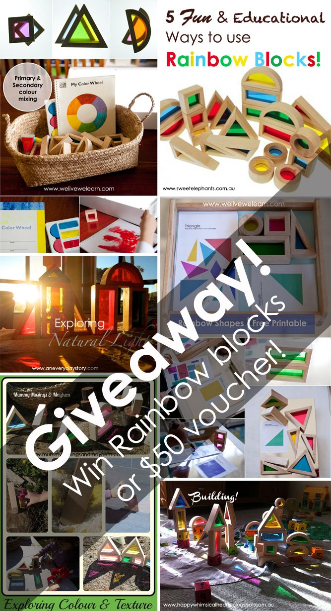 5 ways to use Rainbow Blocks / Window Blocks and $50 Giveaway!