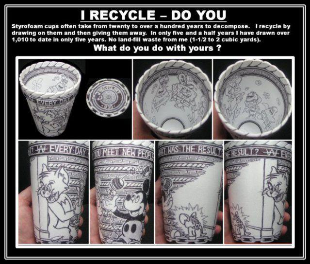 foam cup art - Google Search