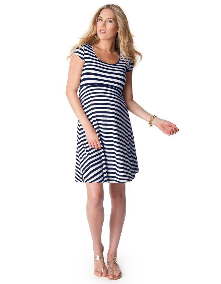 Cut Out Nautical Maternity Dress   Seraphine