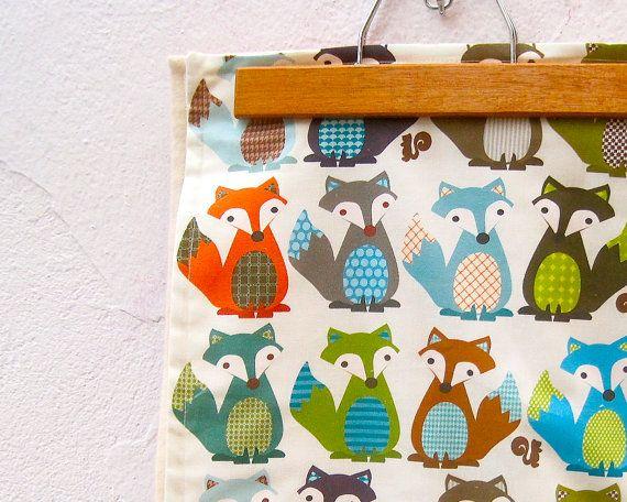 Fox Organic Baby Blanket Modern Woodland Forest Animals