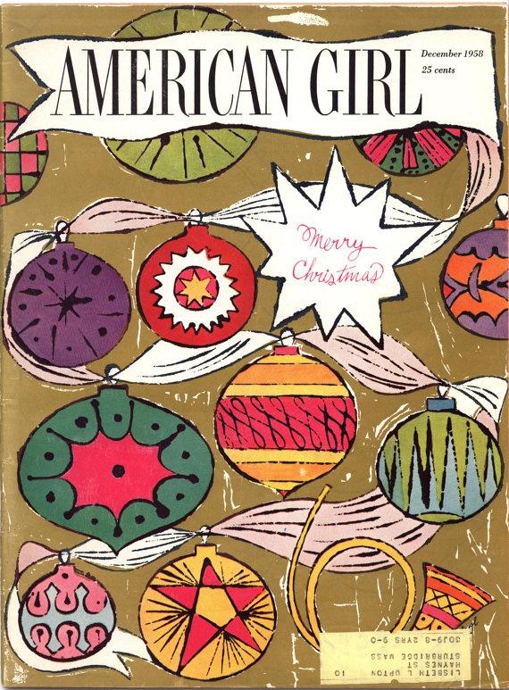 American girl magazine. andy warhol, 1958.