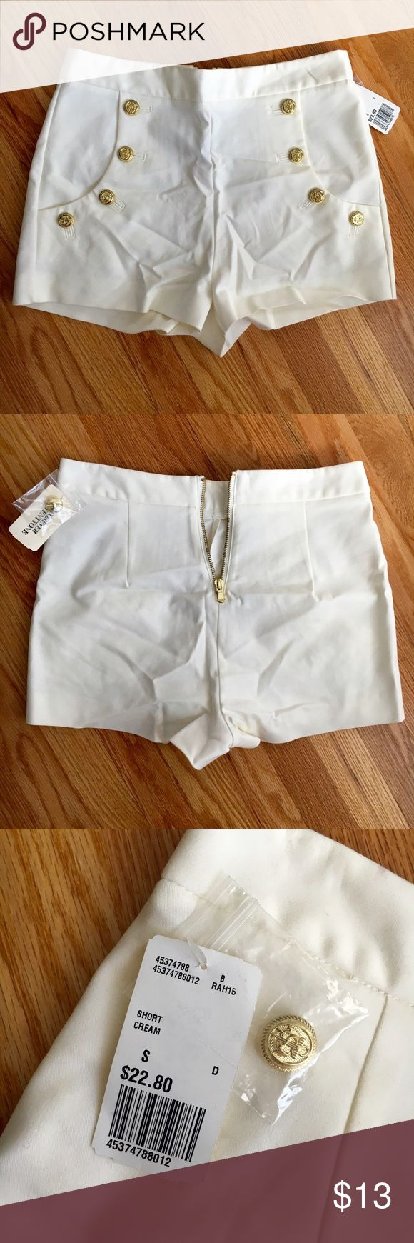 Forever 21 Nautical Shorts New! White Nautical Shorts. Zipper closure in back, comes with spare button. Forever 21 Shorts