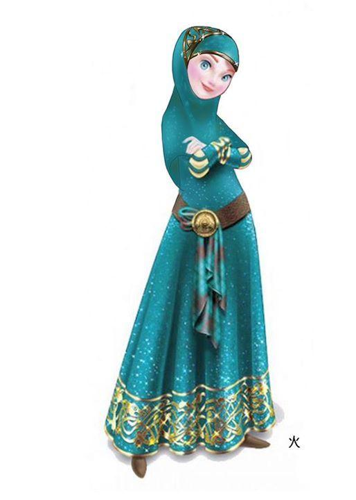 Zahra Rabbiradlia: Gaya Hijab Ala Princess Disney